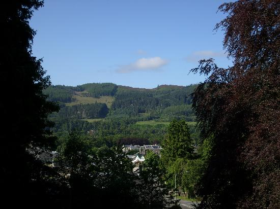 Pitlochry, UK: view from outside swimming pool