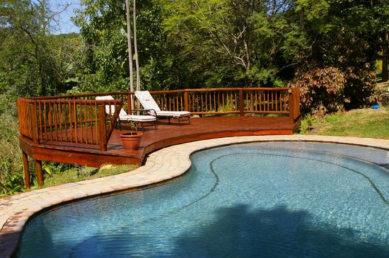 Nwanakalile Lodge: The lovely pool overlooking the Sabana Valley