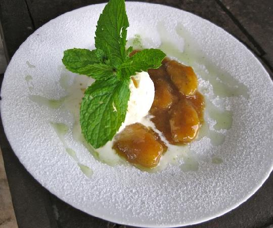 Famous Carrot Cake- Caramelized and served hot with Ginger Custard ...