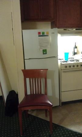 TownePlace Suites Atlanta Kennesaw: Fridge (Chair for scale)