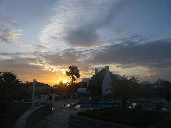 Rosemont: sunset from the patio/pool area