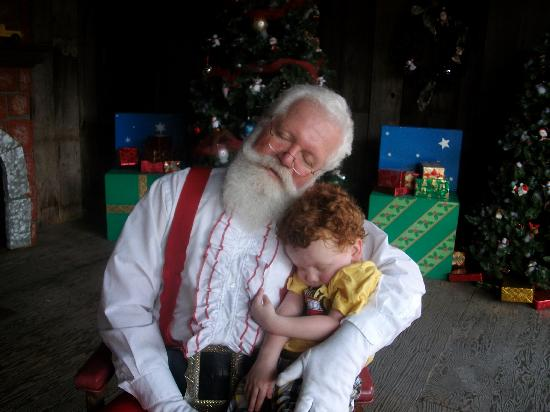 Santa Claus, IN: Santa &quot;napping&quot; with my grandson