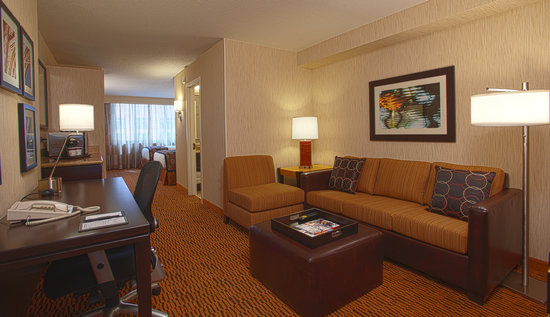 DoubleTree Suites by Hilton Minneapolis: Double Living Room Area