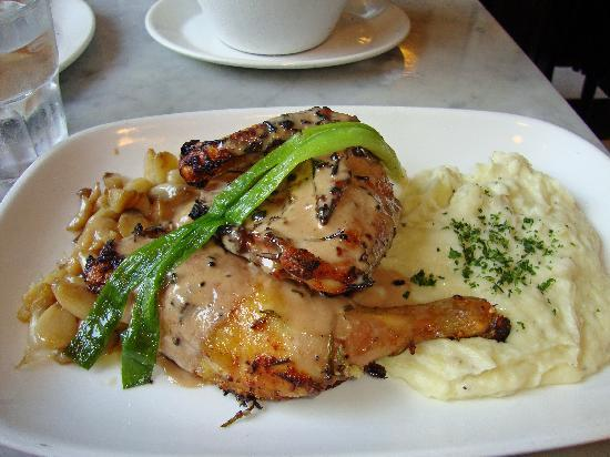The Stinking Rose: 40 clove garlic roasted chicken with garlic mashed ...