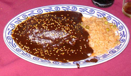 mole poblano plate of mole poblano with mole poblano is the iconic ...