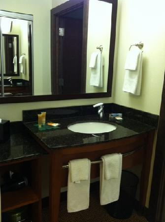 Hyatt Place Des Moines Downtown: 2 bars soap, shampoo, conditioner, and toothpaste