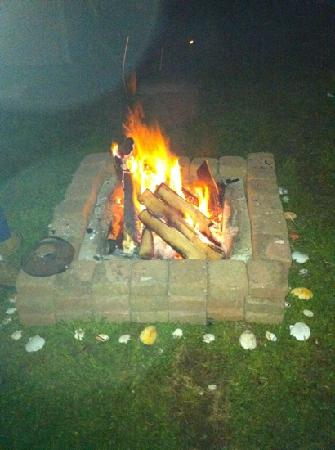 Lake Laurie Campground: campfire