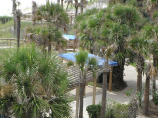 Hotel at the Boardwalk Beach Resort: from the private balcony