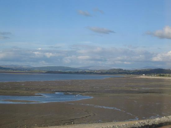 Morecambe, UK: View across the bay from the front of the hotel