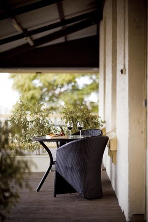 : The Balcony - Great for a wine and platters