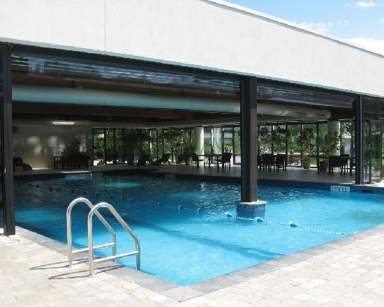 Indoor Outdoor Salt Water Pool Picture Of Sheraton Montreal Airport Hotel Dorval Tripadvisor