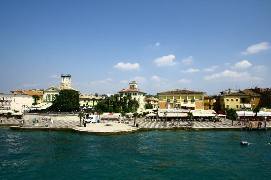 Lazise - accessible by boat, and on foot, along the lake from Bardolino
