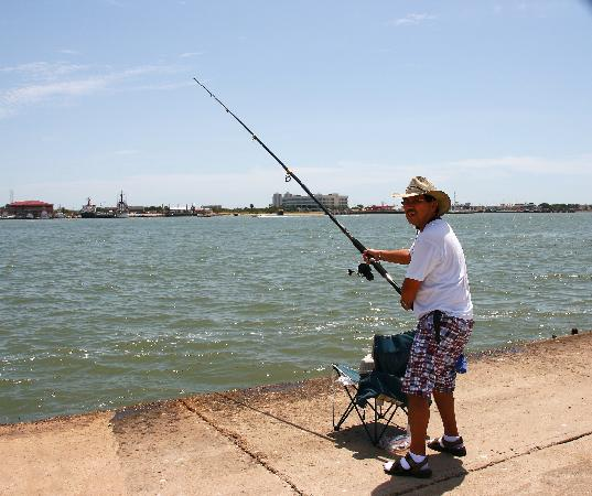 Very interesting picture of seawolf park galveston for Seawolf park fishing report
