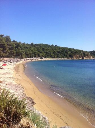 Koukounaries, Greece: one of the many lovely beaches