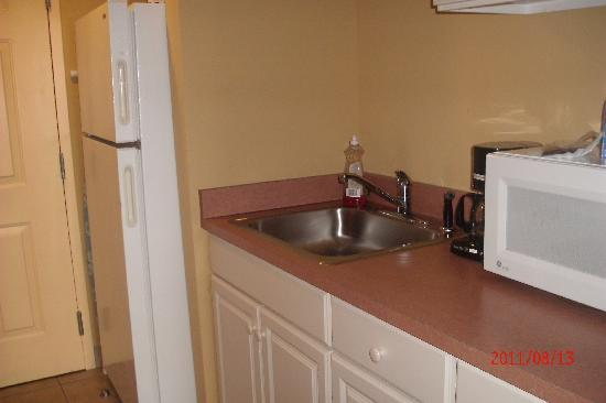 Bonita Beach Hotel: large fridge, microwave, sink