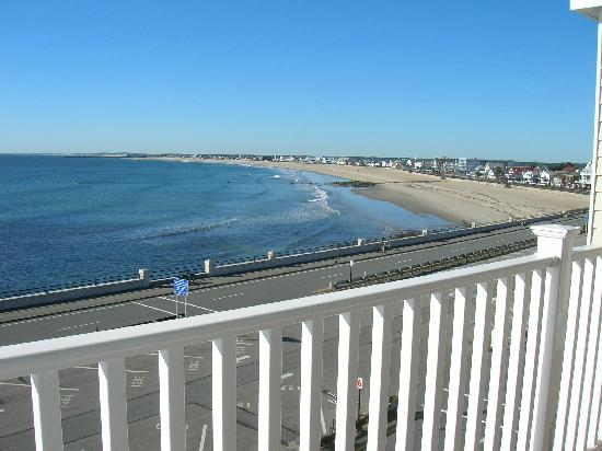 Atlantic Breeze Suites: View from our balcony toward the boardwalk.