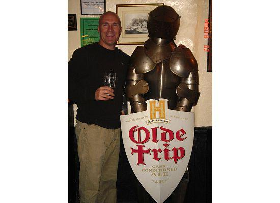 Nottingham, UK: Me inside Ye Olde Trip