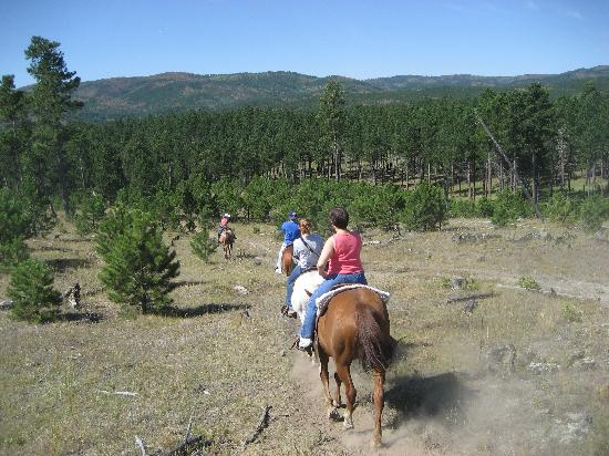 High Country Guest Ranch: Trail ride vista