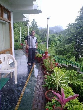 Bhimtal, India: outside my room