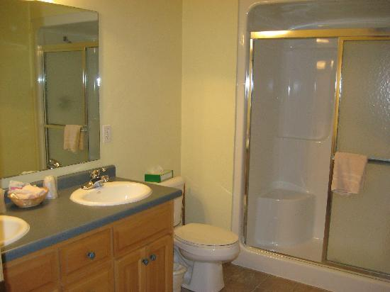 Birchwood Lodge: Private Bathroom w/large shower