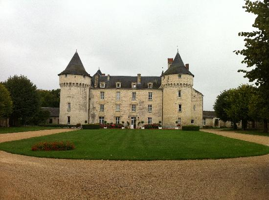 Chinon, Prancis: Chateau depuis la grille d&#39;entre