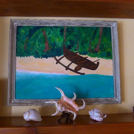 Kauai Cove Cottages: my favorite painting