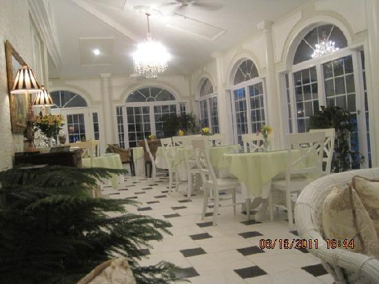 A Storybook Inn: This is the beautiful room where we enjoyed our gourmet breakfast and our quiet time with wine a