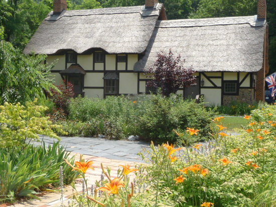 Anne Hathaway's Cottage Bed & Breakfast Inn: Day Lilies in bloom