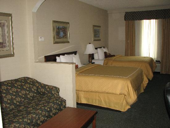 Comfort Suites Waco: HUGE bed/living area