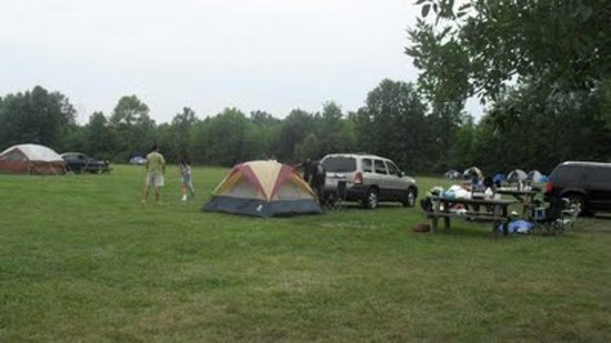 tent camping with hookups
