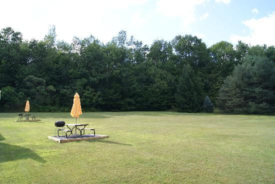 Serenity: Picnic/Recreation area behind motel