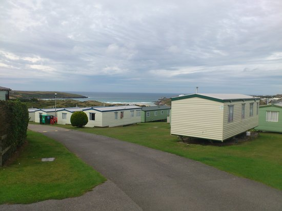 Parkdean - Crantock Beach Holiday Park: View of Crantock Bay from the site