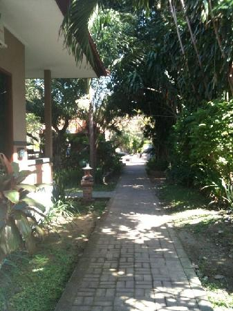 Legian, Endonezya: Garden path at Garden View