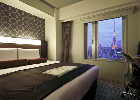 Hotel MyStays Hamamatsucho: towerview room_night