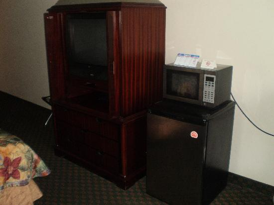 Lancaster Red Roof Inn: Loved the Microwave and fridge :)