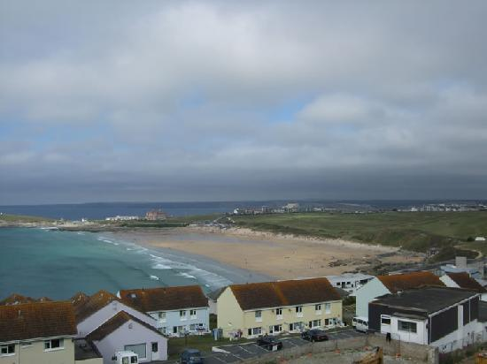 The Pentire Hotel: View of Fistral beach from hotel
