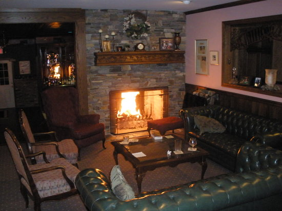 Inn at Water's Edge : Cozy up by the fire