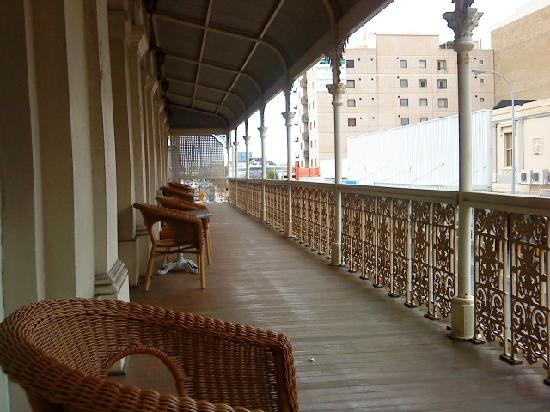 The Melbourne: The large verandah - the highlight!