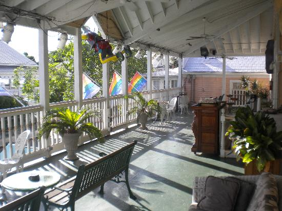 New Orleans House: Front Deck overlooking Duval Street
