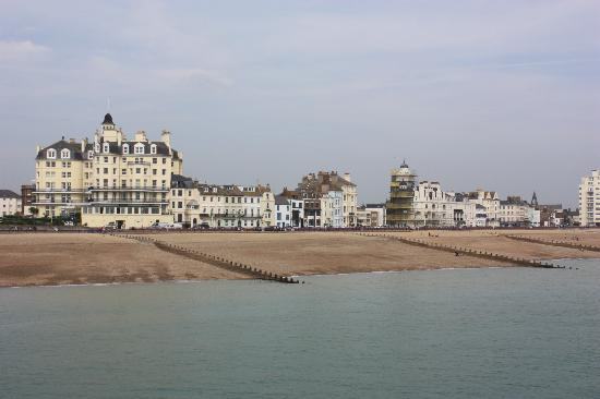 The Guesthouse East: fab view from the pier