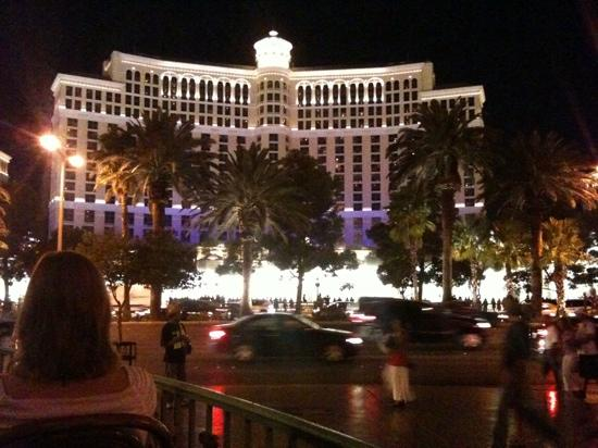 view from the patio picture of mon ami gabi las vegas