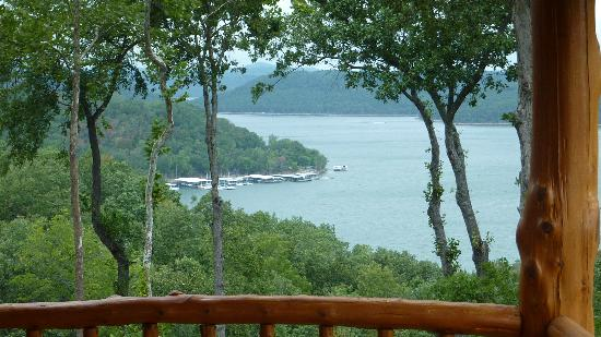 Beaver Lake View Resort: View from the back deck