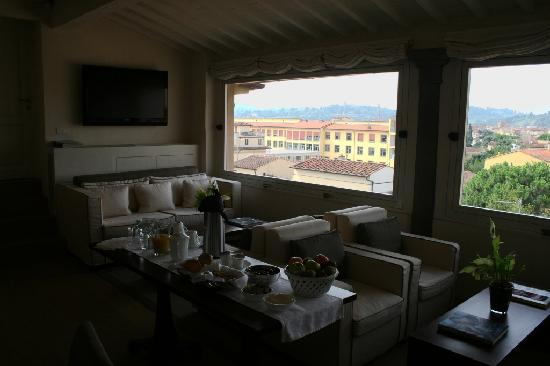 Residenza d'Epoca Home in Palace: the view from the breakfast room