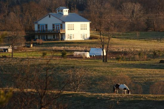 Belle Meade Bed and Breakfast: School house north of house across fields