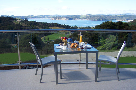 Within The Bays: Breakfast overlooking Mercury Bay