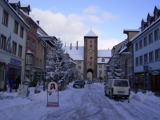 Villingen-Schwenningen, Deutschland: Villingen Innenstadt im Winter