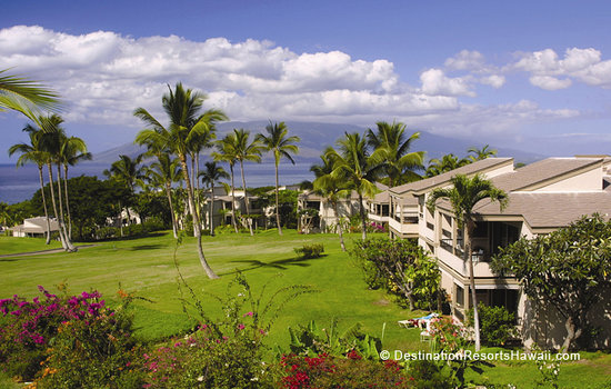 Wailea Ekolu Village Resort: Wailea Ekolu Village's Low Rise Buildings Sprawled Along the Fairways Overlooking the Ocean