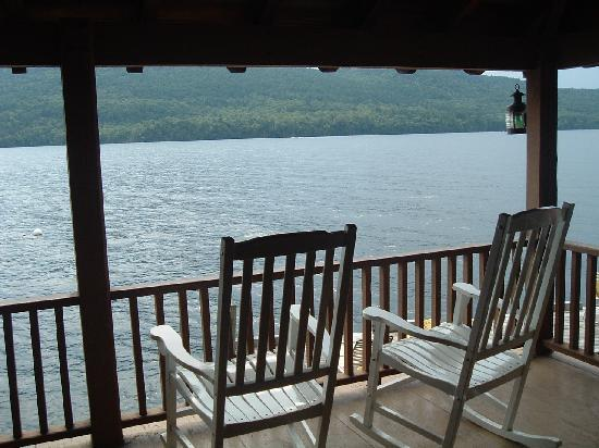 Adirondack Park Motel: view from boathouse