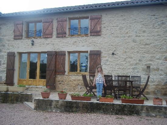 Saint-Mathieu, France: Back of gite, with lovely terrace and garden.