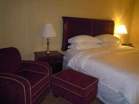 Sheraton Charleston Airport Hotel: Both lamps worked and were two-way